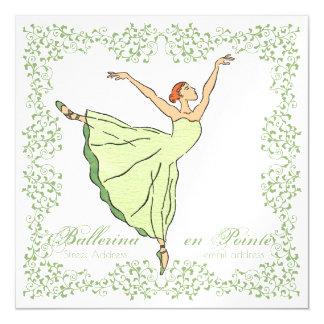 Ballerina Grace Square Magnetic Card