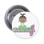 Ballerina - Green T-shirts and Gifts Pinback Buttons