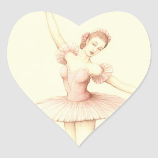 Ballerina Heart Sticker