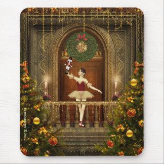 Ballerina holding Nutcracker Mousepad Mousemat