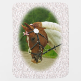 Ballerina Horse Swaddle Blankets