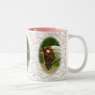 Ballerina Horse Two-Tone Coffee Mug