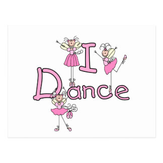 Ballerina I Dance T-shirts and Gifts Postcard