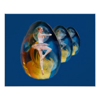 Ballerina in Alien Galaxy Poster