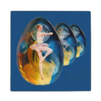 Ballerina in Alien Galaxy Wooden Coaster