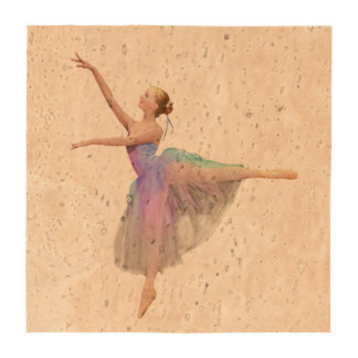 Ballerina in Arabesque Customizable Coaster