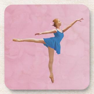 Ballerina in Arabesque Pose Customizable Cork Coas Beverage Coasters