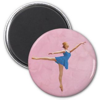 Ballerina in Arabesque Pose Customizable Magnet