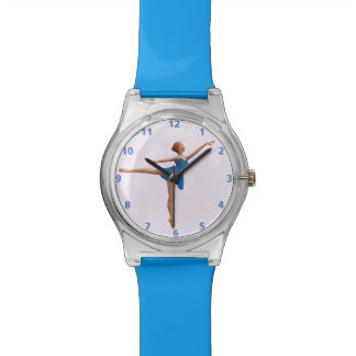 Ballerina in Arabesque Position Customizable Wristwatches