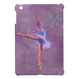 Ballerina in Arabesque Position in Purple and Blue iPad Mini Cover