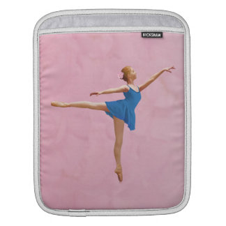 Ballerina in Arabesque Position in Purple and Blue Sleeve For iPads