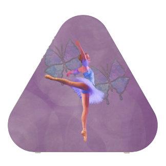 Ballerina in Arabesque Position in Purple and Blue Speaker