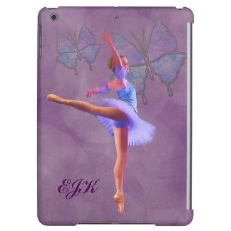 Ballerina in Arabesque Position, Monogram iPad Air Covers