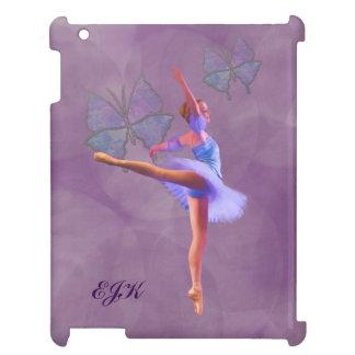 Ballerina in Arabesque Position, Monogram iPad Cases