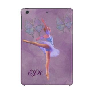 Ballerina in Arabesque Position, Monogram iPad Mini Cases