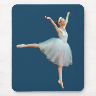 Ballerina in Arabesque Position Mouse Pad