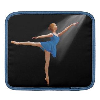Ballerina in Arabesque Position on Black iPad Sleeve