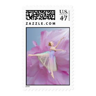 Ballerina in Arabesque Position Postage