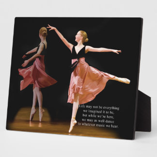 Ballerina in Black and Red Display Plaques
