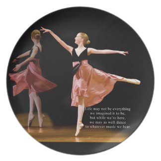 Ballerina in Black and Red Plate