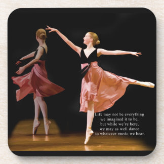 Ballerina in Black and Red Set of Coasters