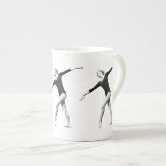 Ballerina in Black and White Bone China Mug