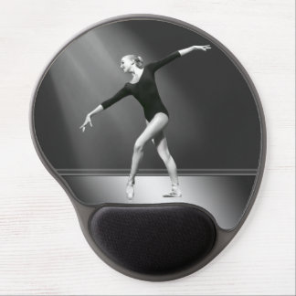 Ballerina in Black and White Customizable Gel Mouse Pad