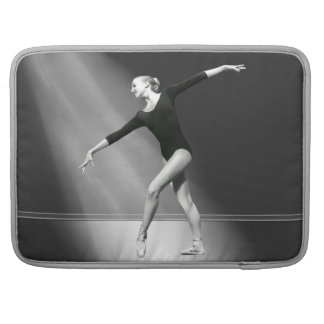 Ballerina in Black and White Customizable Sleeves For MacBook Pro