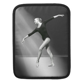 Ballerina in Black and White Customizable Sleeve For iPads