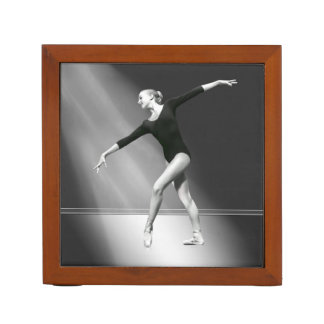 Ballerina in Black and White Desk Organizer