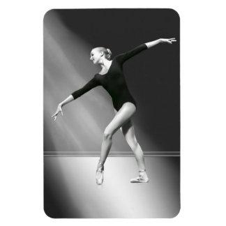 Ballerina in Black and White Flexible Magnet