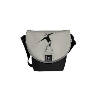 Ballerina in Black and White Mini Messenger Bag
