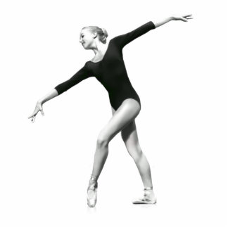 Ballerina in Black and White Photo Sculpture Magne