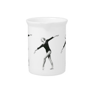 Ballerina in Black and White Pitcher