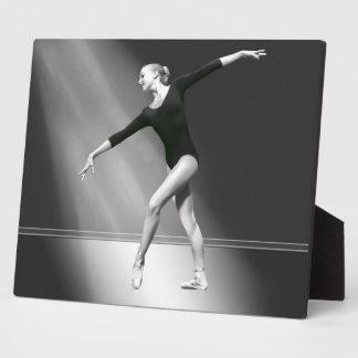 Ballerina in Black and White Plaque