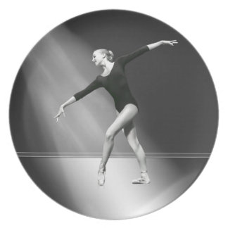 Ballerina in Black and White Plate