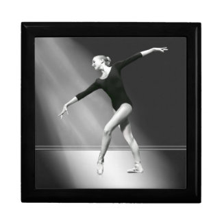 Ballerina in Black and White Tile or Jewelry Box