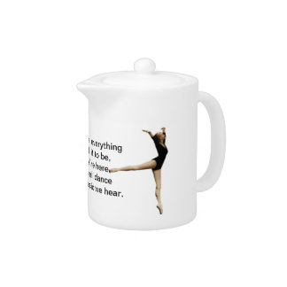 Ballerina in Black Customizable Teapot