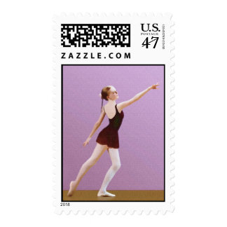 Ballerina in Black Postage Stamp