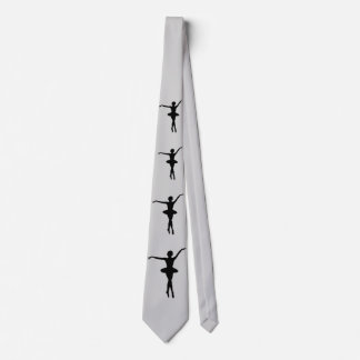 Ballerina in Black Silhouette Customizable Neck Tie