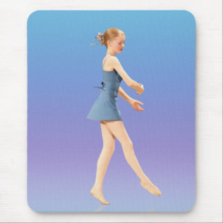Ballerina in Blue Costume Mouse Pad