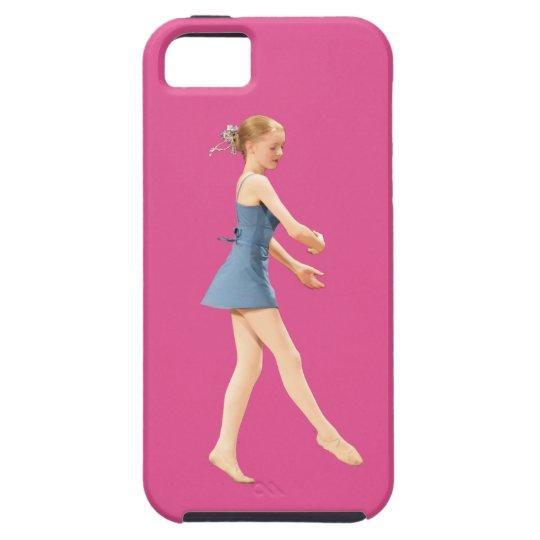 Ballerina in Blue Customizable iPhone SE/5/5s Case