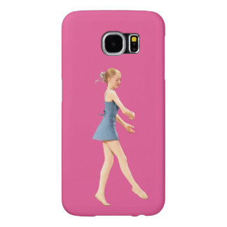 Ballerina in Blue Customizable Samsung Galaxy S6 Case