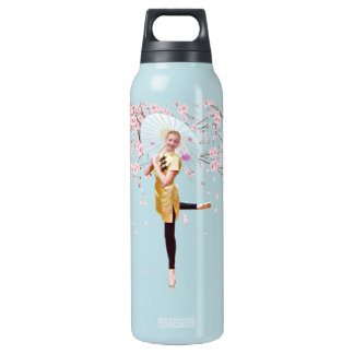 Ballerina in Cherry Blossoms Insulated Water Bottle
