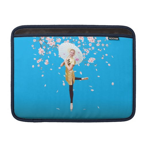 Ballerina in Cherry Blossoms MacBook Sleeves