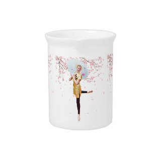 Ballerina in Cherry Blossoms Pitcher