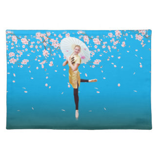 Ballerina in Cherry Blossoms Placemat