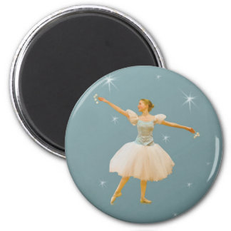 Ballerina in Green and White Magnet