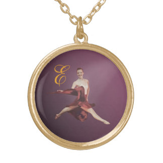 Ballerina in Jete Position with Monogram Pendants