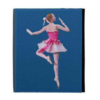 Ballerina in Pink and Blue iPad Folio Cases